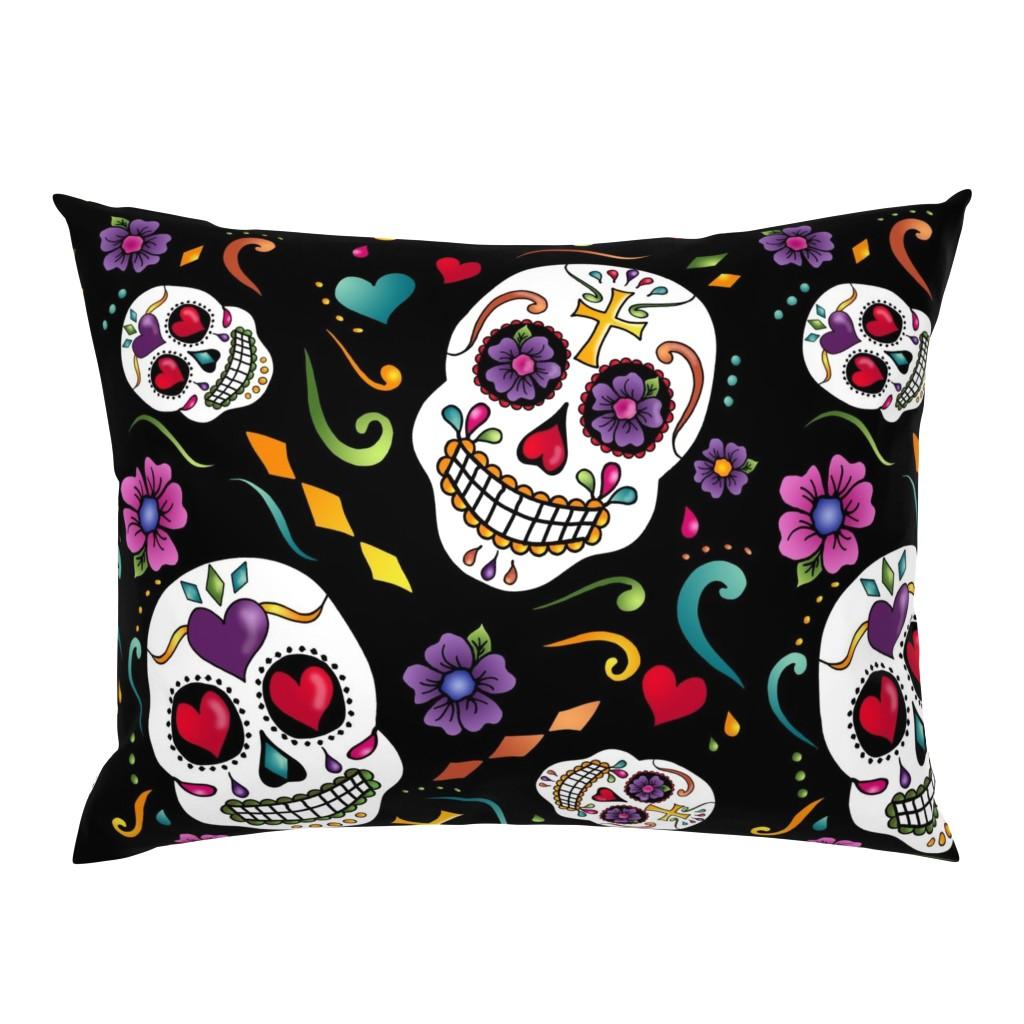 Campine Pillow Sham featuring Calaveras Celebration by designergal