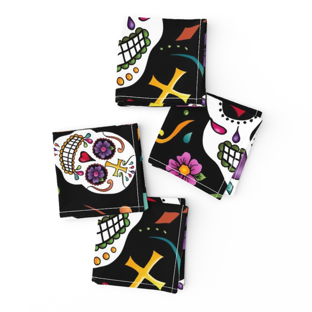 Frizzle Cocktail Napkins featuring Calaveras Celebration by designergal