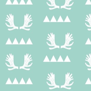 Moose Triangles - Pale Turquoise by Andrea Lauren