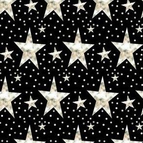 Gold Star on Black & Cream Dots