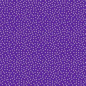 Tiny White Dots on Purple