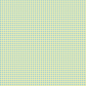 Tiny Plaid Blue With Yellow