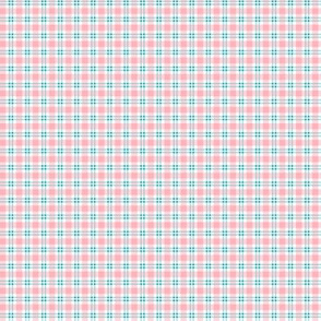 Tiny Plaid Pink With Blue
