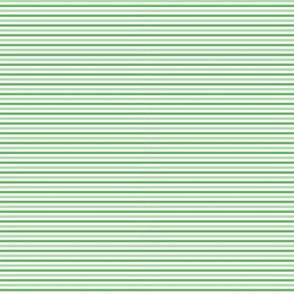 Tiny Combo Stripes Lt Green, Med Green, White