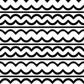 Mod squiggle rows black and white