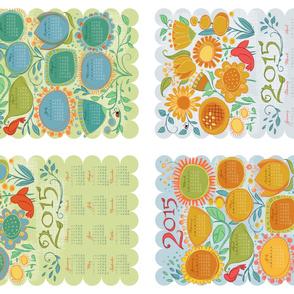 2015 Calendar Tea Towel Drawn Garden_Mix