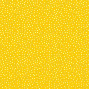 Tiny White Dots on Dk Yellow