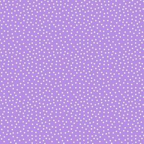 Tiny White Dots on Lavender