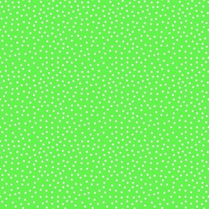 Tiny White Dots on Lime Green