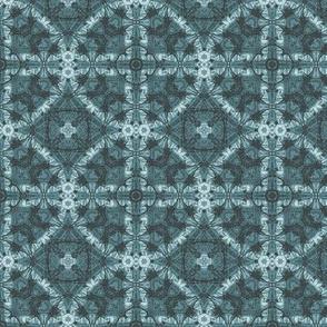Denim blue geometric