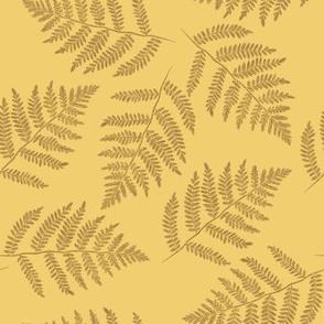 October ferns - counterchanged