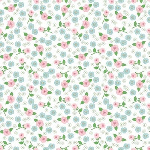 Small Floral on White