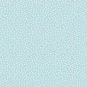 Tiny Dots White on Lt Blue