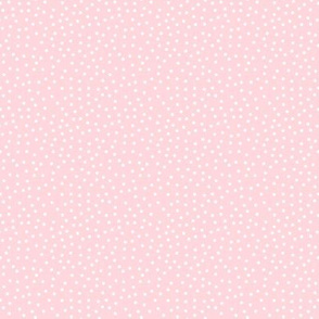 Tiny Dots White on Pink