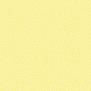 Tiny Dots White on Lt Yellow