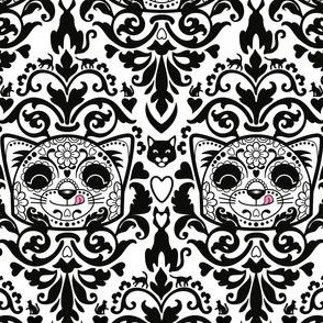 candy_cat_damask_B_W