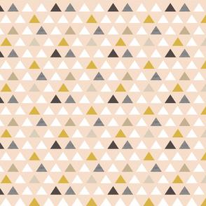 Mod Blush Triangles half scale