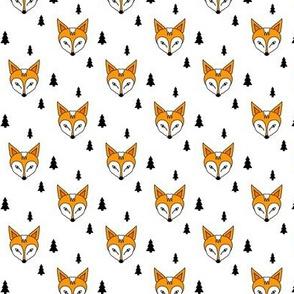 Fox and trees orange mini
