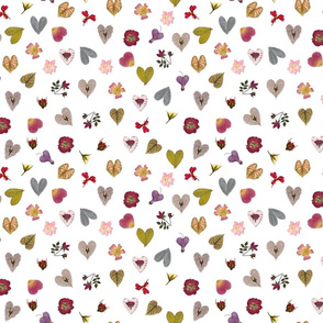 botanical hearts small