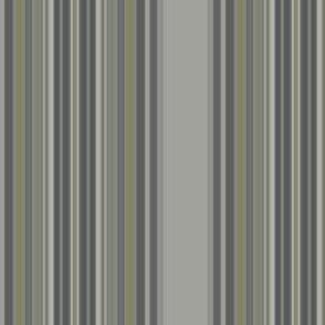 Grey Zones Stripe in Jade Green small