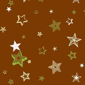 Stars and stars-brown