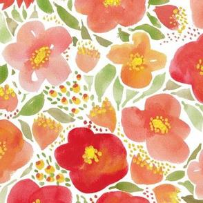 Floral garden watercolor botanical