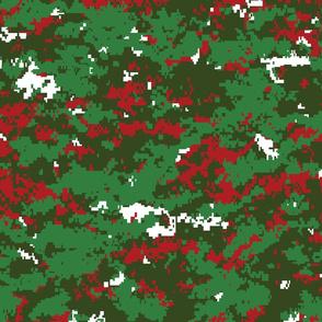 Christmas Holiday Digital Camo