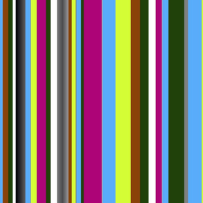 multicolor  mid-century vertical stripes tell3people