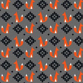 arizona fox scarlet charcoal linen