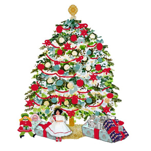 Presents underneath the tree fat quarter  bundle