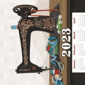 2020 Calendar Towel Singer Sewing Machine