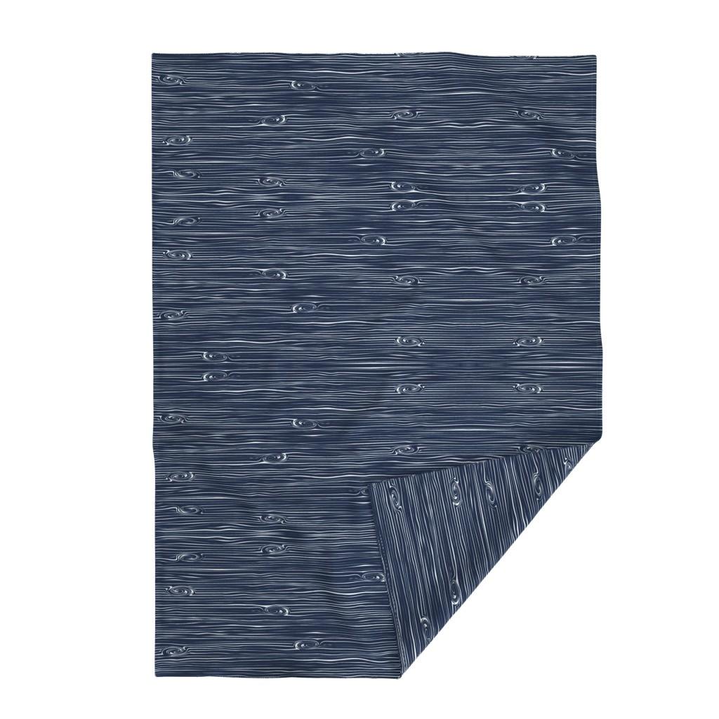 Lakenvelder Throw Blanket featuring Woodgrain Navy // Rustic Woods Collection by littlearrowdesign