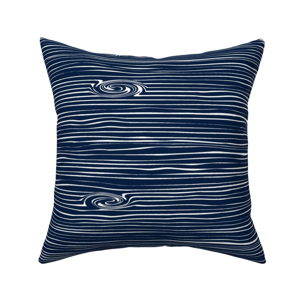 Catalan Throw Pillow featuring Woodgrain Navy // Rustic Woods Collection by littlearrowdesign