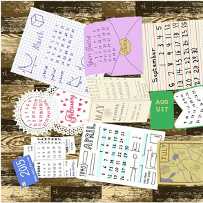 Calendar of all kinds of paper