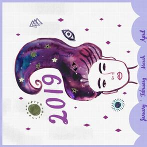 Galaxy Girl Calendar 2019