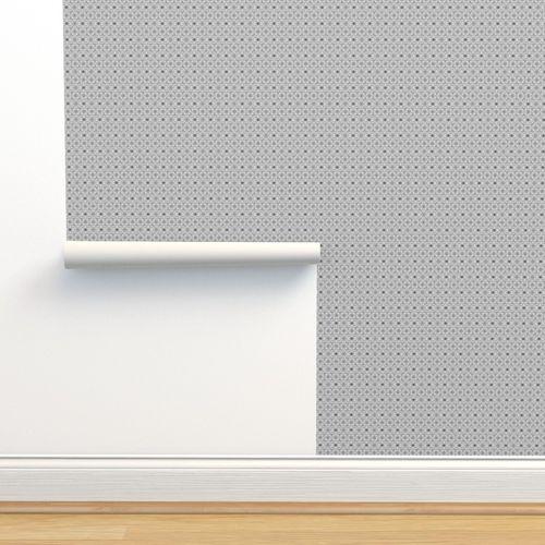 Wallpaper Elegantly Grey Patterned Fabric 2010 Gingezel