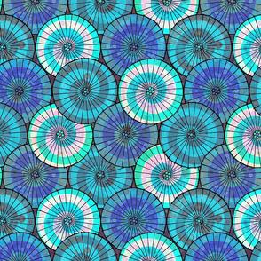 Blue Tissue Parasols