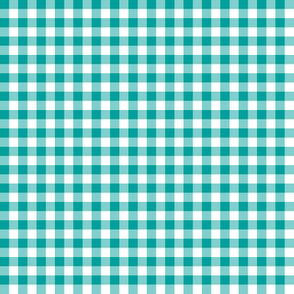 "1/4"" fisherman's gingham - green teal"