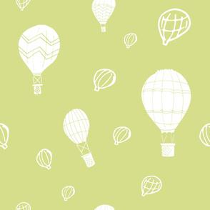Hot Air Balloons on Green
