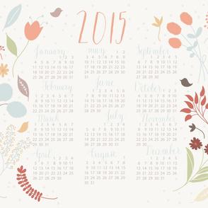 2015 Floral Tea Towel Calendar