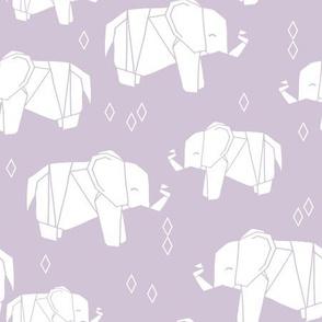 Origami Elephant - Lavender by Andrea Lauren