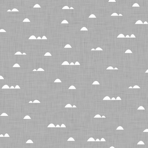 Waves (white on gray background)