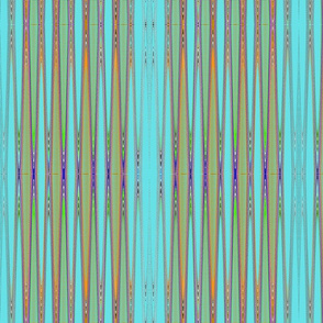 blue purple orange green zig zag tell3people