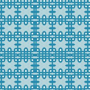 blue white mid-century geometric pattern tell3people
