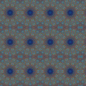 Copper Blue Circles