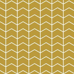 chevron // golden - Woodland Collection