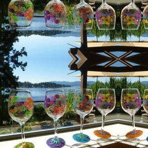 Wine glasses with a view