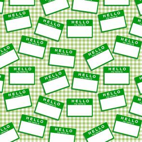 green name badges