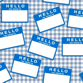 hello my name is...   (in blue on frosty blue)