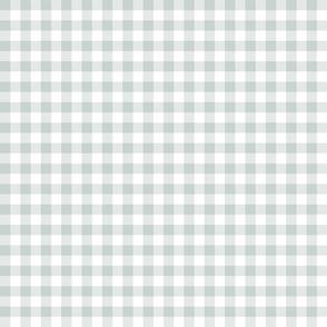 ski gingham - white and grey